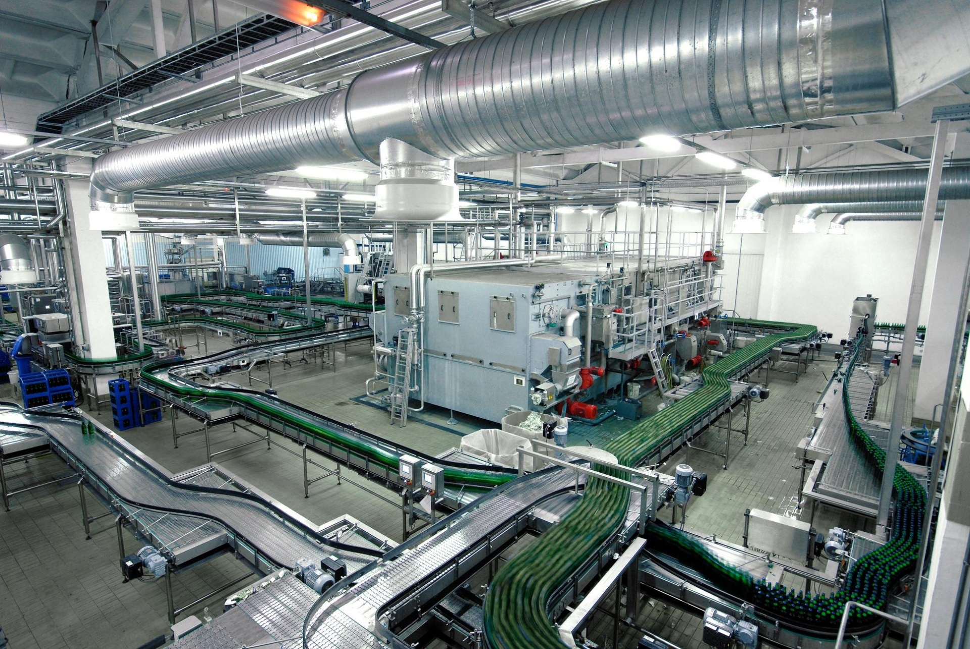 The bottling line at the Zaporizhzhia plant Karlsberg Ukraine